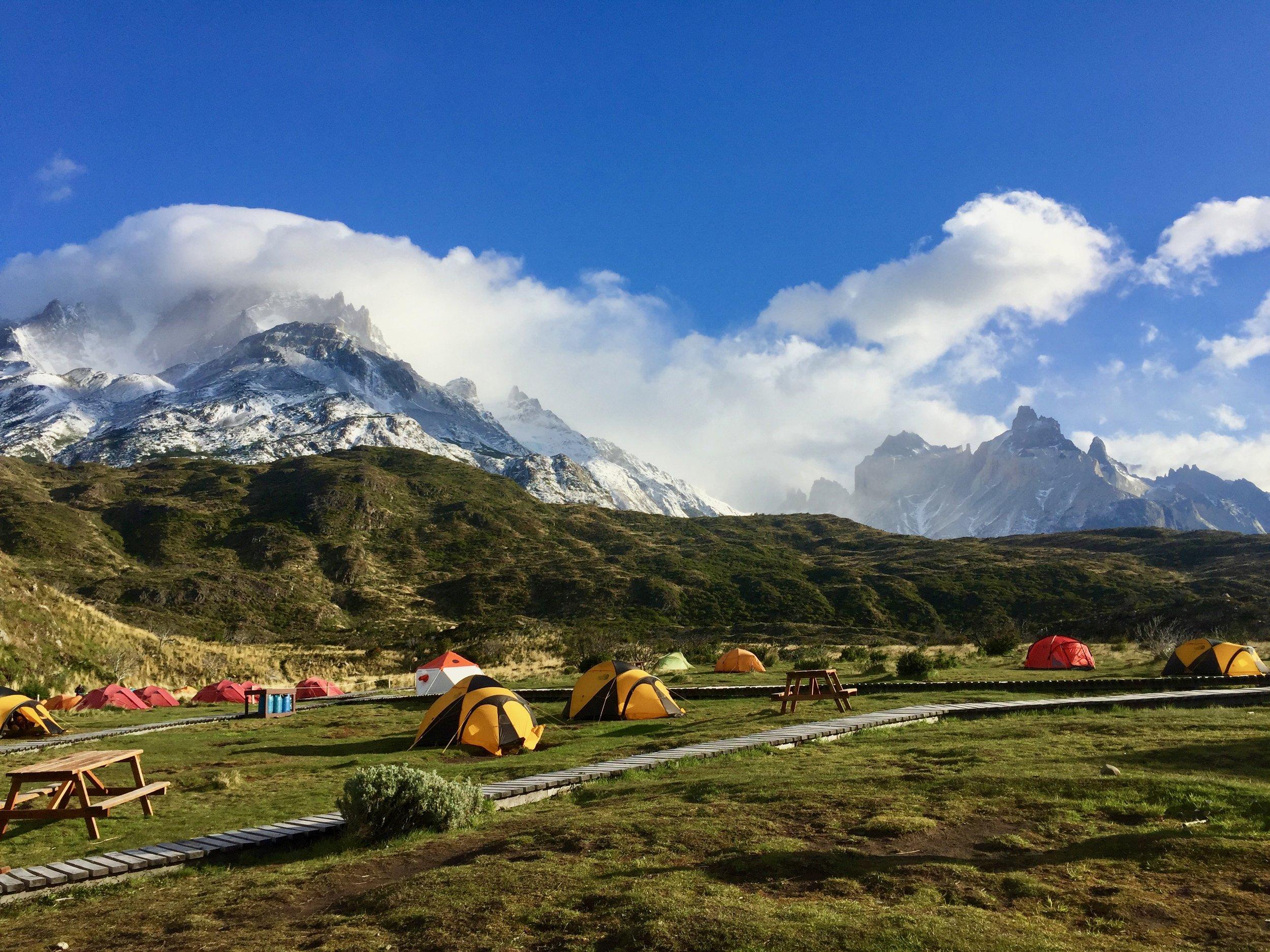 Our campsite in Torres del Paine.