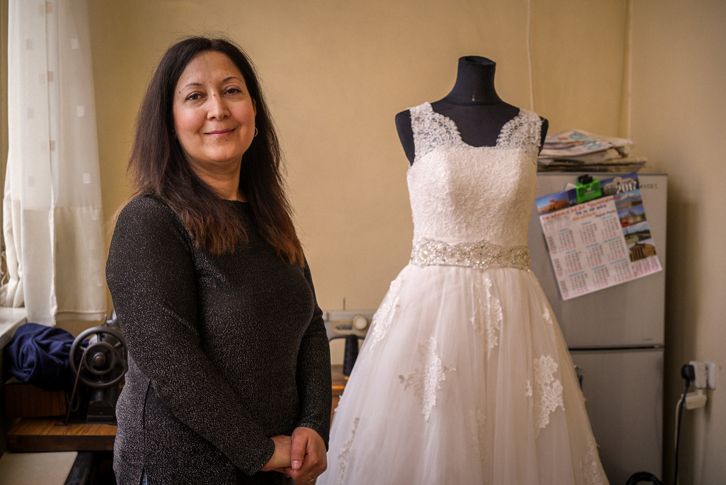 Mary Rose was hired to redesign this wedding dress.