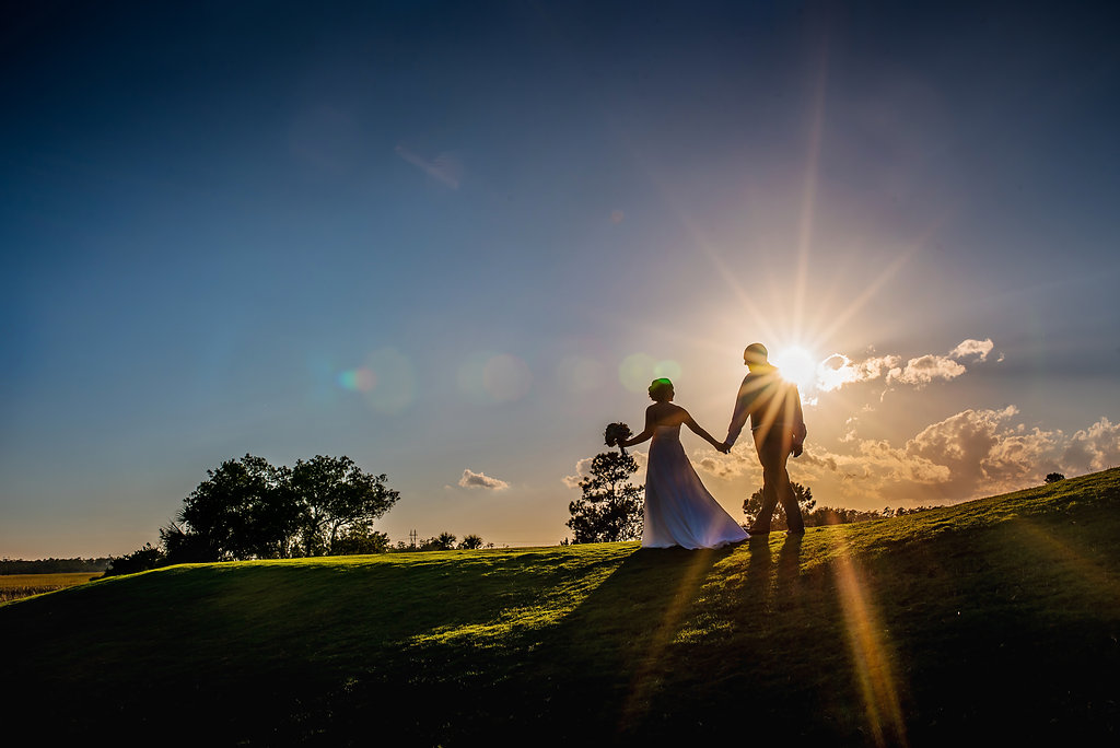 Wedding Portraits on the RiverTowne Golf Course