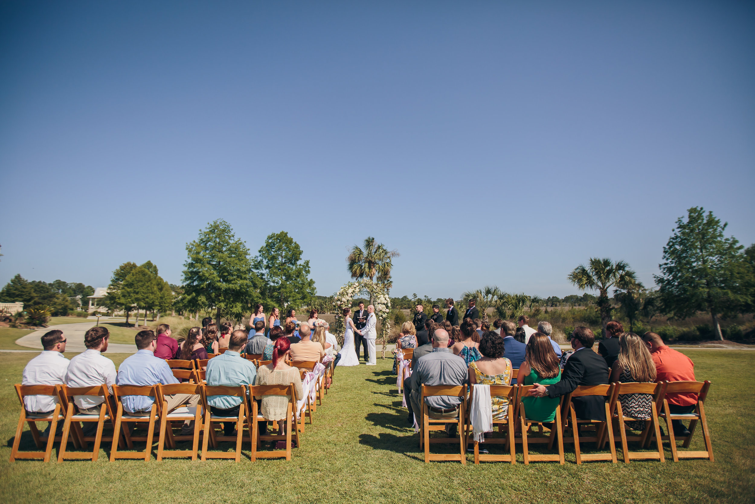 RiverTowne Country Club | Wedding Ceremony Lawn