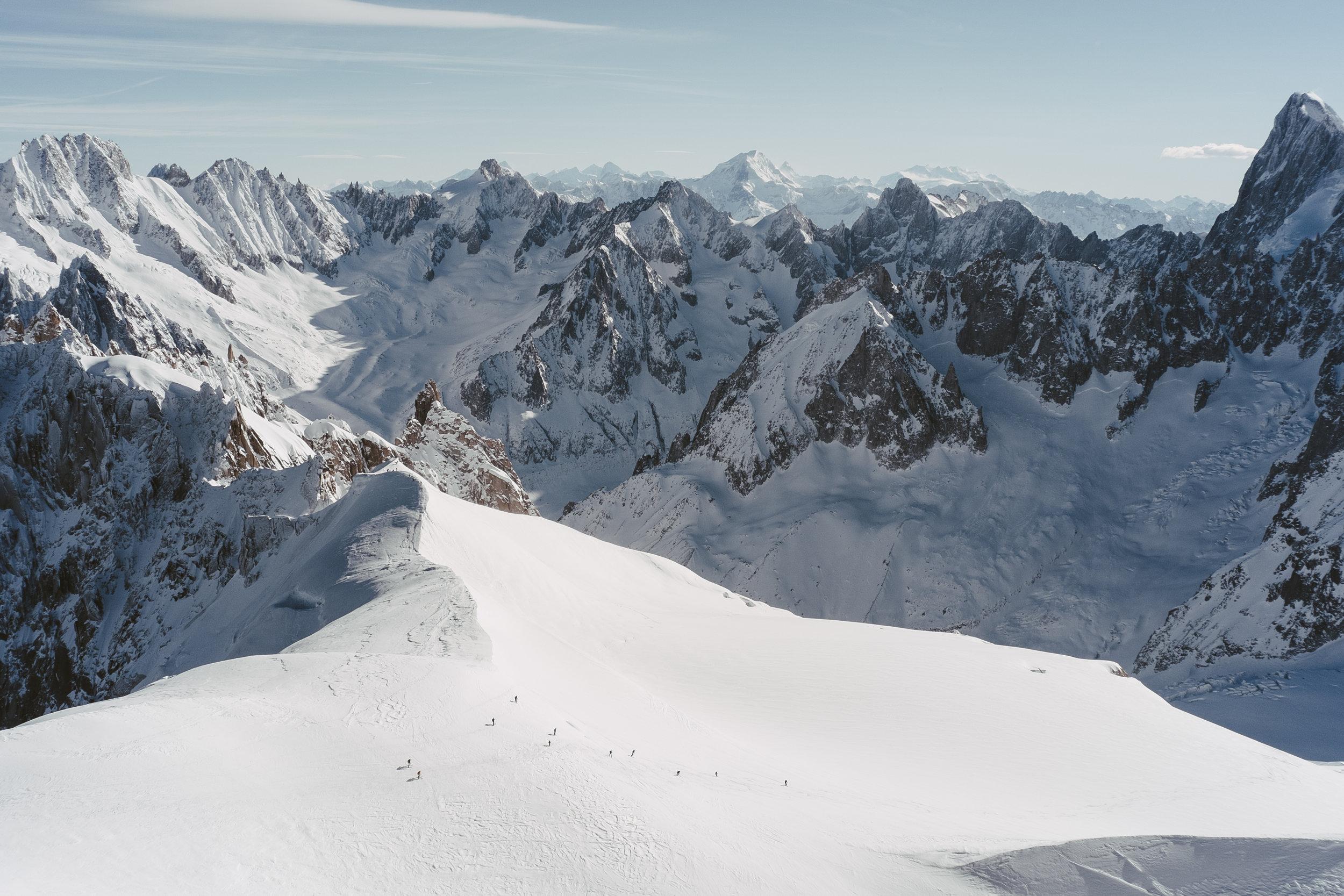 Départ de la Vallée Blanche, Chamonix, 2017.