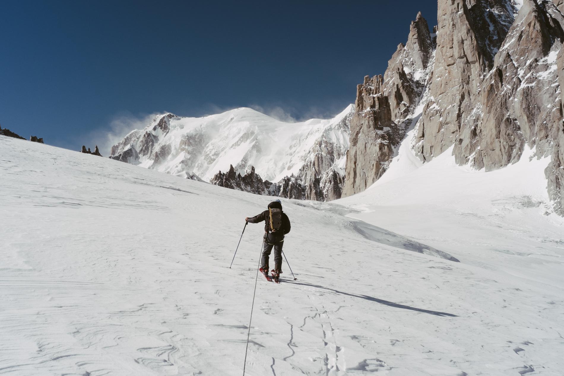 Mon guide sur le glacier du Géant - CHAMONIX, FRANCE.