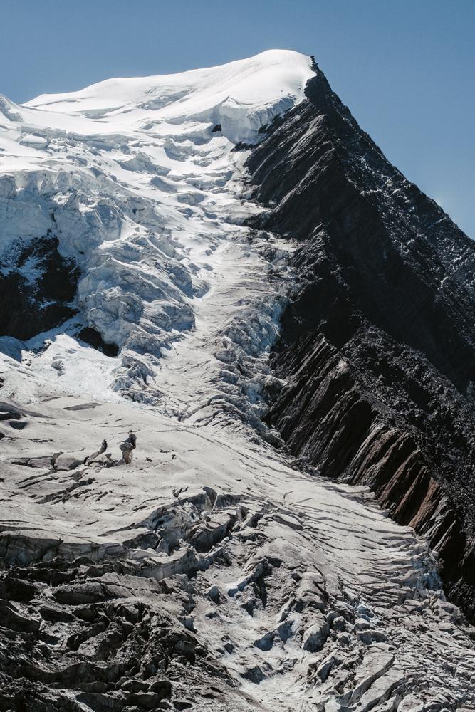 Aiguille du Goûter et glacier de Taconnaz depuis la montagne de la côte, Chamonix (haute-savoie, france). page 43