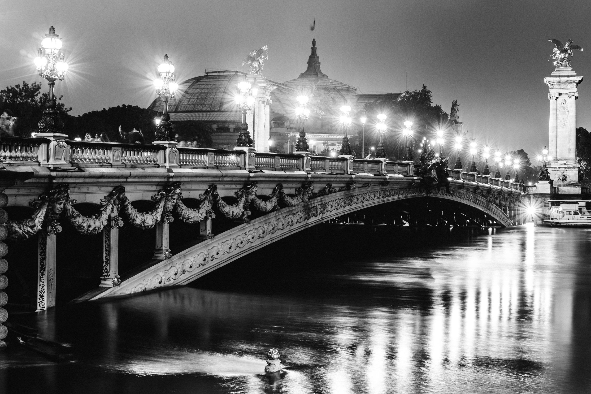 Le pont Alexandre III, Paris. 2016