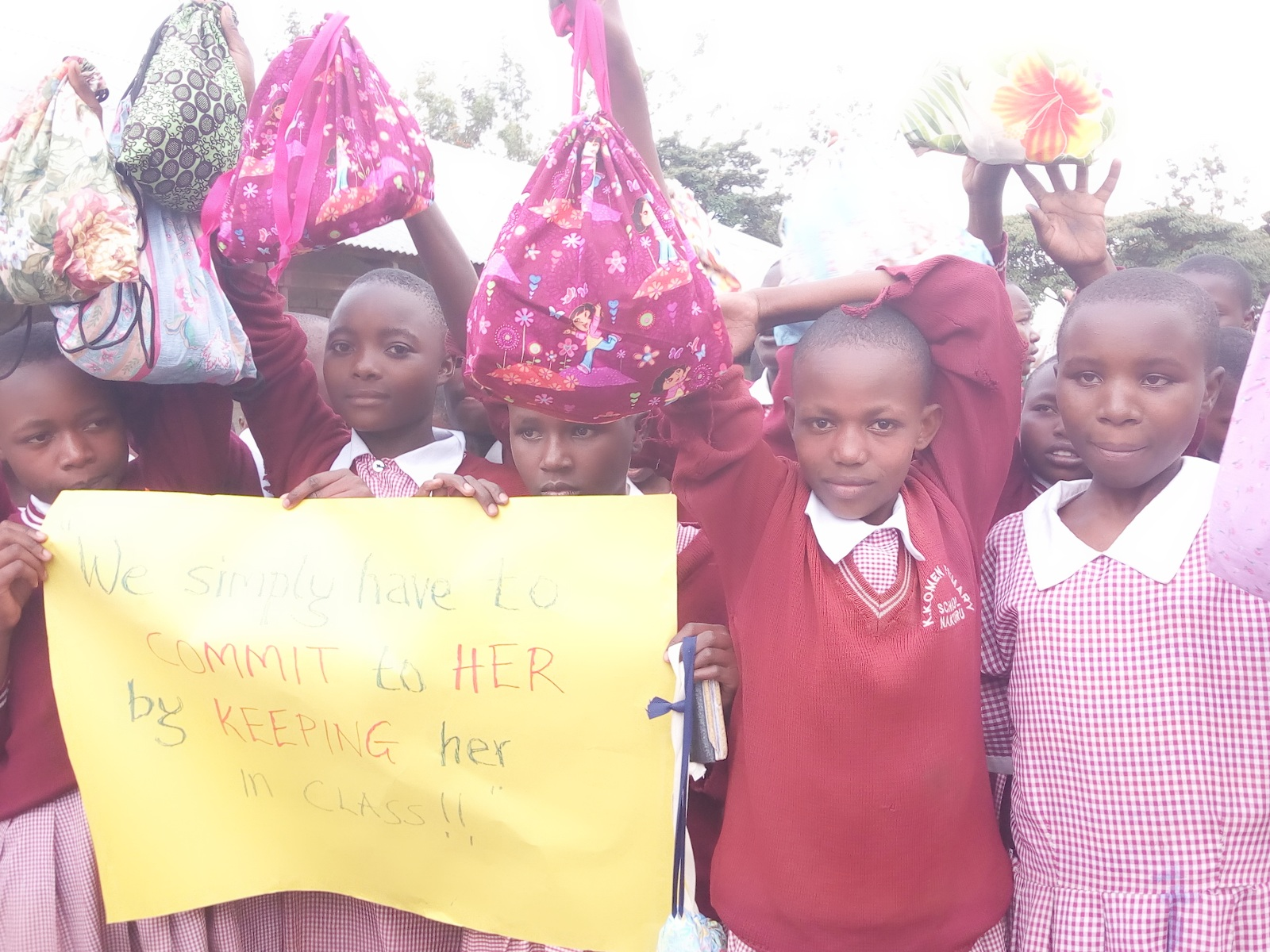 These are girls we know personally. They are fighting to stay in school. These sustainable hygiene kits keep them in school during menses. And instead of missing 5-6 days a month and eventually dropping out, these kits are good for 2-3 years because they are washable. Thank you to our partner  Days4Girls.