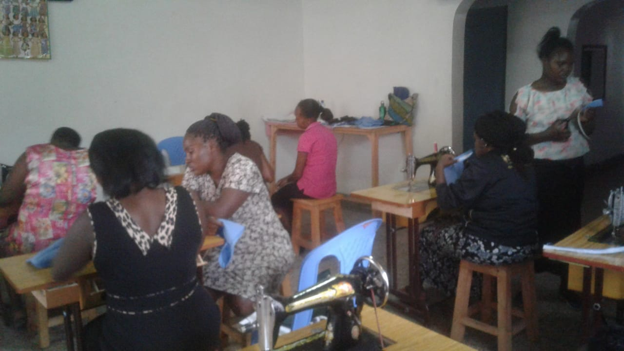Learning sewing skills even though they may need to share a machine.  Our goal:  30 sewing machines at the center by end of summer 2019.
