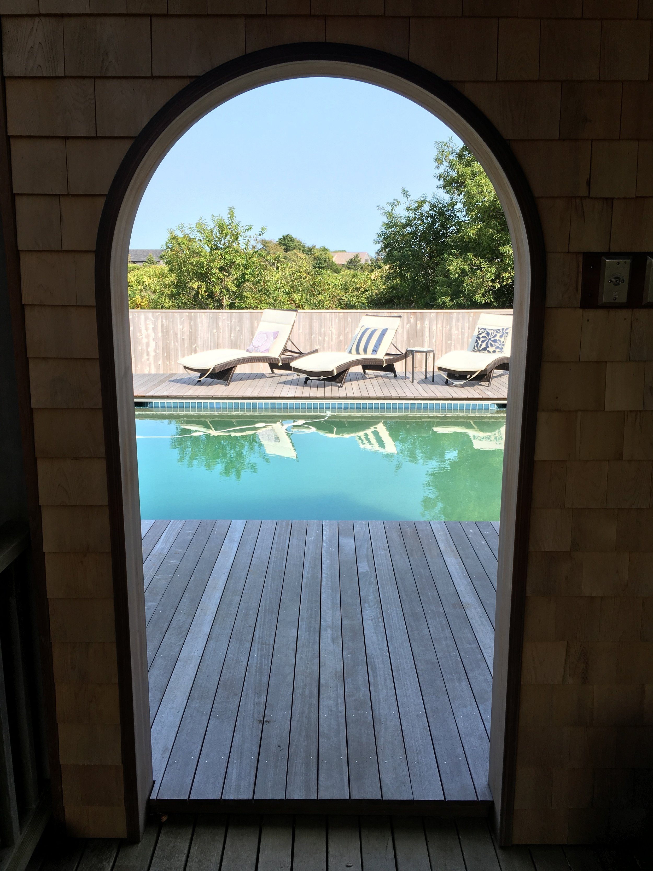 pool layout + deck design + build