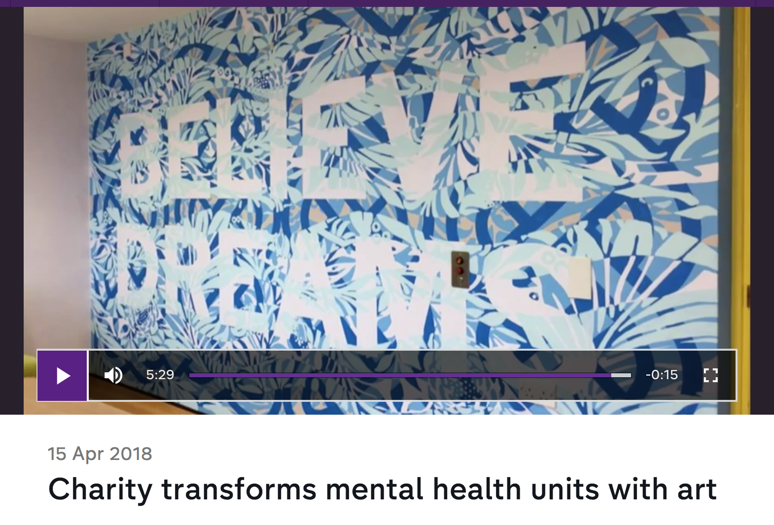 Channel 4 News - Our project at Snowsfields Adolescent Unit was included in a feature about Hospital Rooms on Channel 4 News. Two former patients from Snowfields contributed to the piece, sharing their perspective on working with Hospital Rooms and the difference art has made to the unit. The feature is still available to watch here.