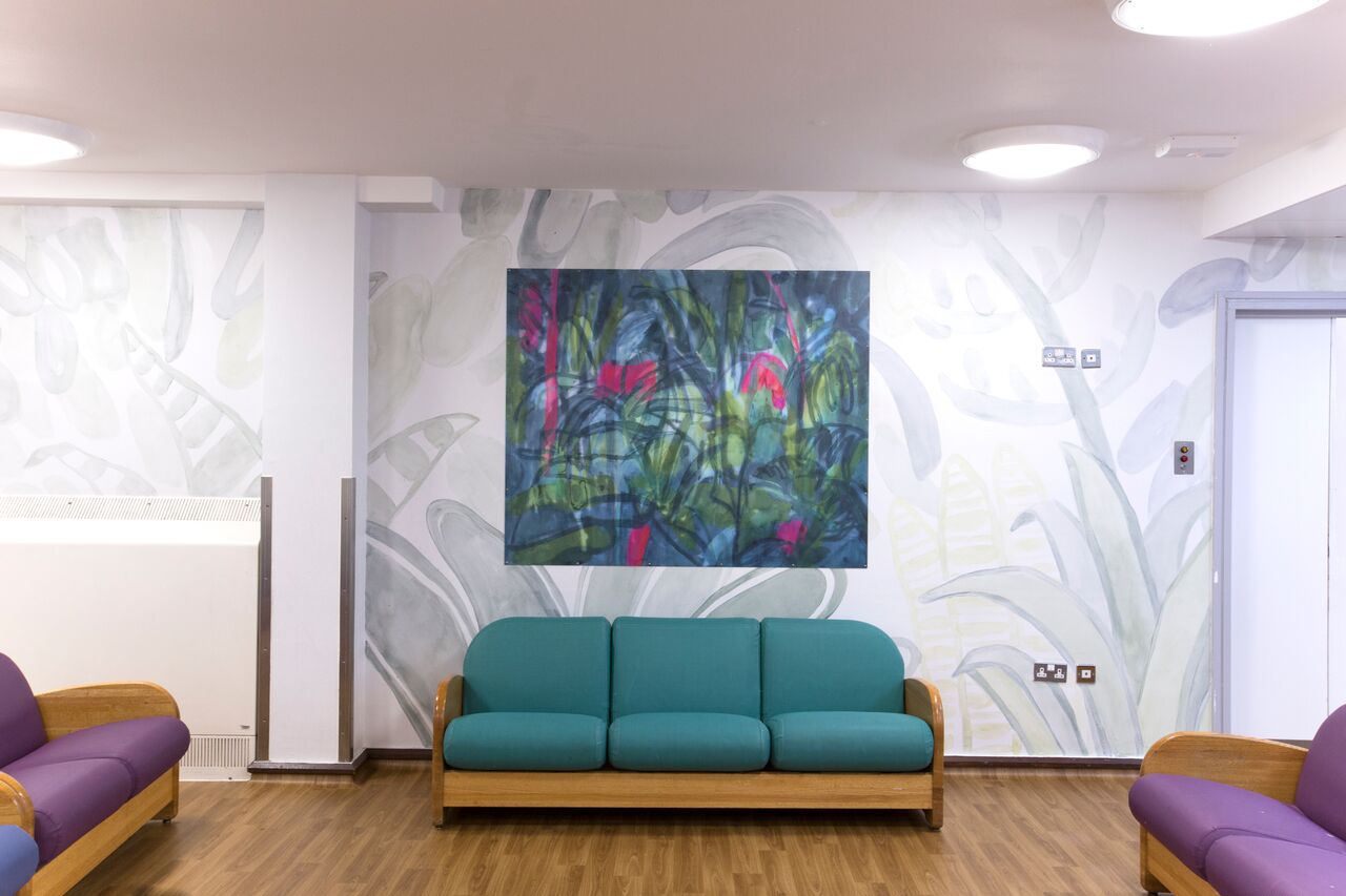 The Main Lounge at ES1, transformed by Tamsin Relly.