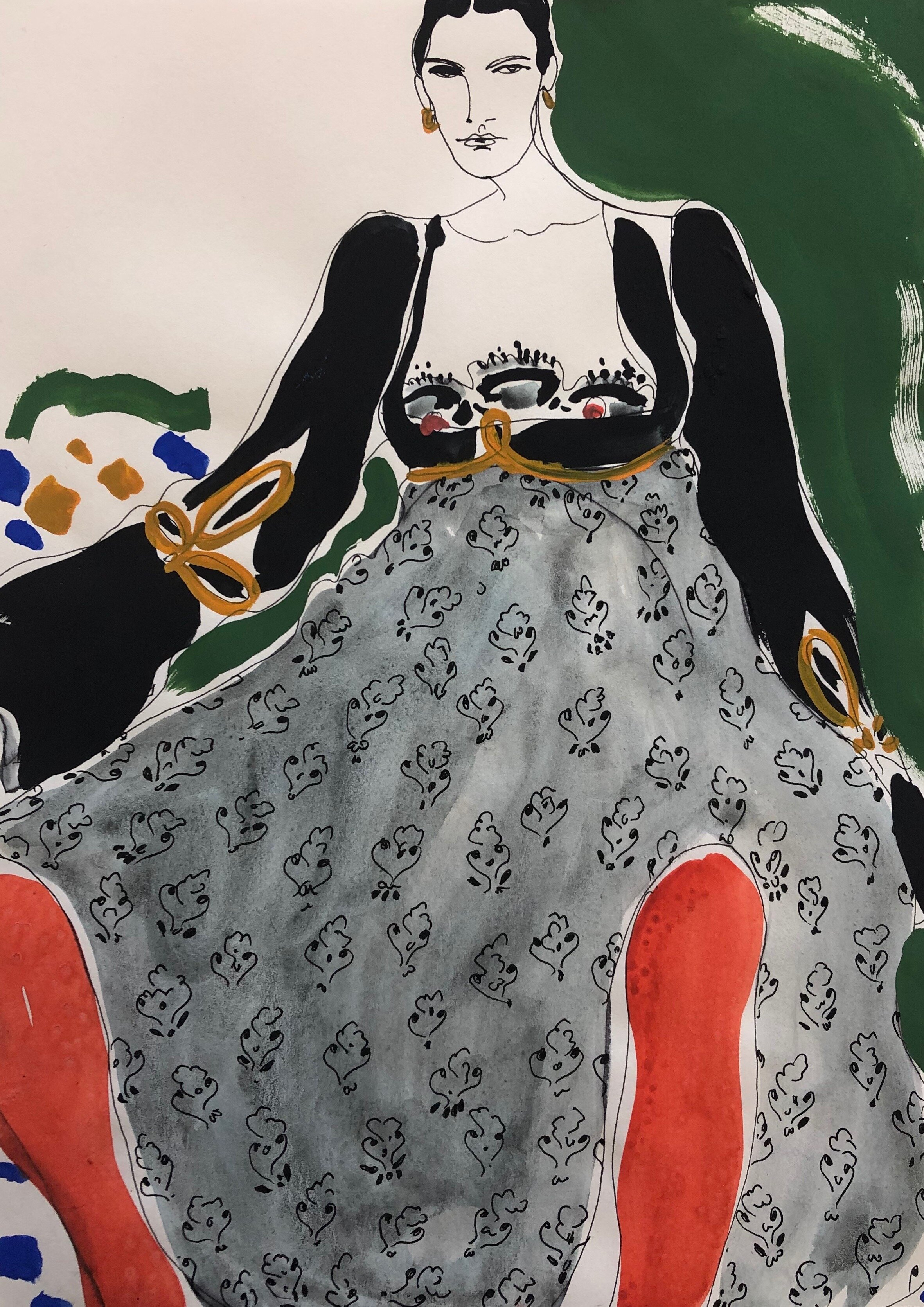 Rosie McGuinness - Banshee III, 2019Pen and gouache on paper19 x 27.5 cmEstimate: £500-700Starting bid: £350
