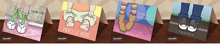 Thank You cards designed for kids, by Naava