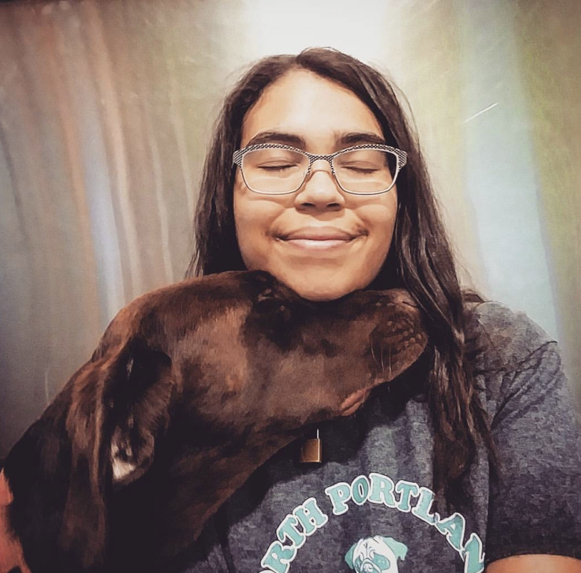 iesha -Employee since October 2016 -Daycare team member, Pet first aid certified -Favorite DOg Breeds: great danes, akitas, chow chows -Personal pets: rascal, a 15 year old cat