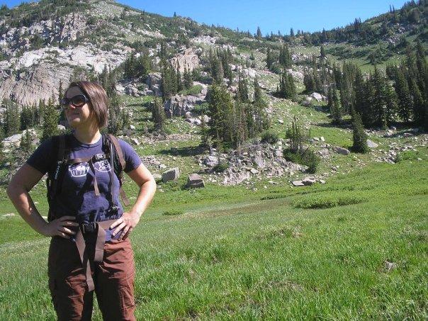Hiking in Utah's Wasatch Mountains.