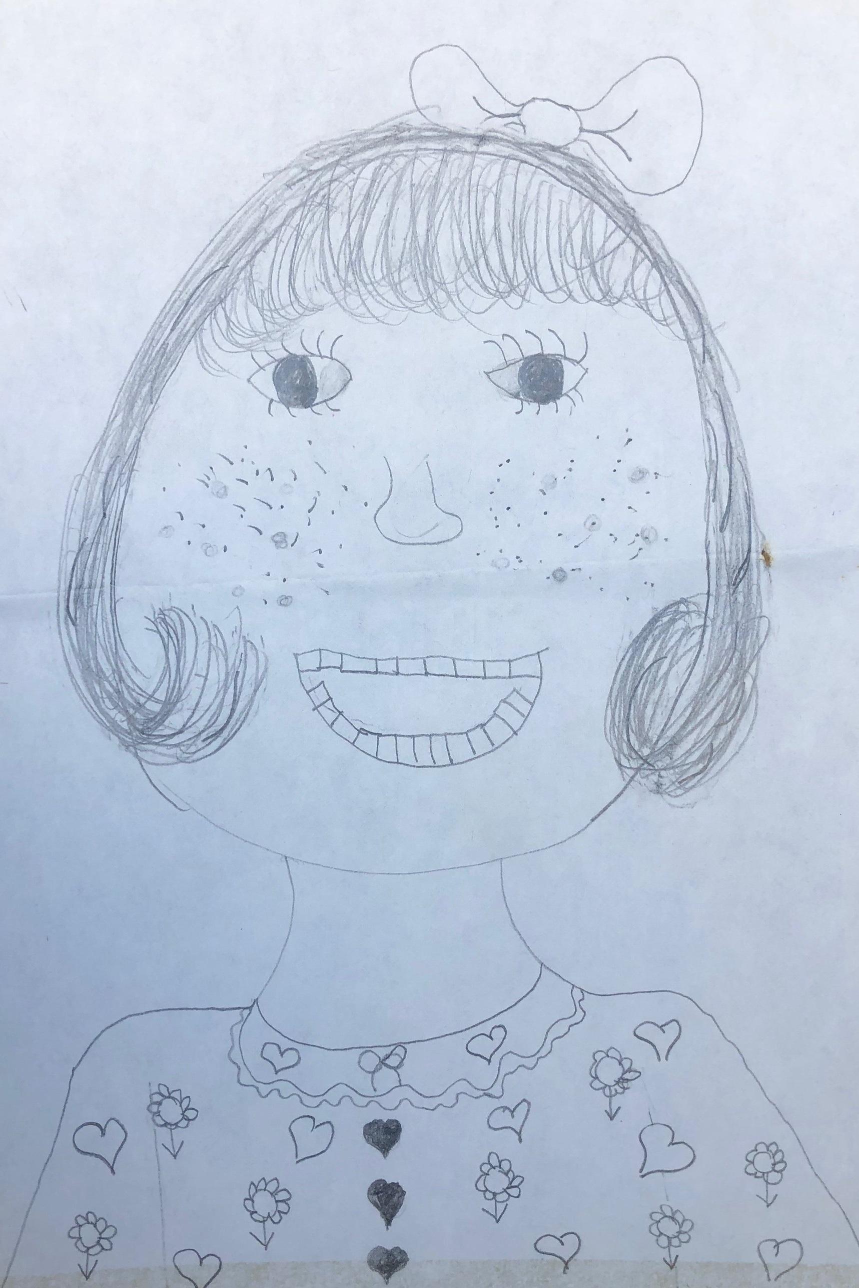 Fourth grade self-portrait.