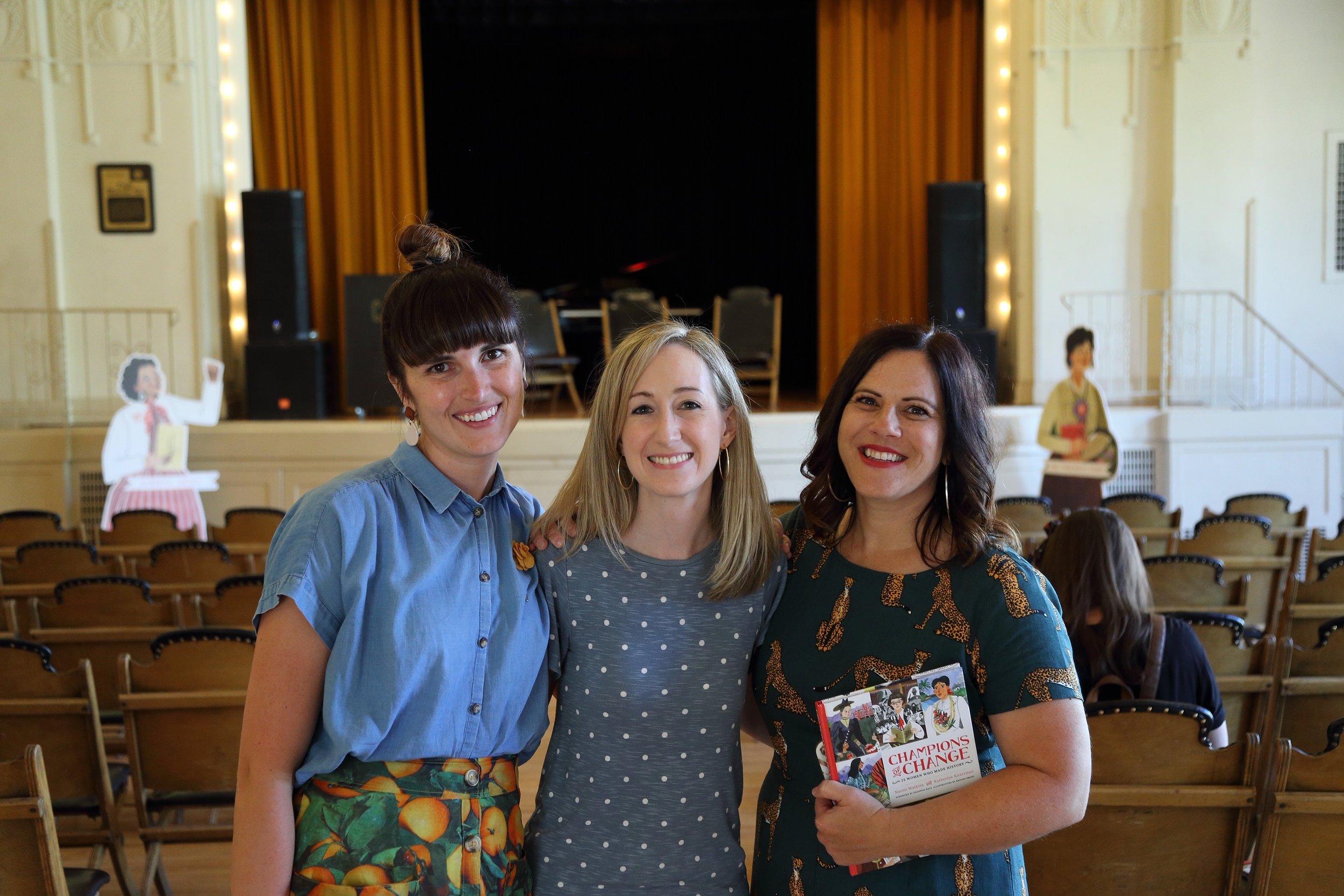(left to right) Brooke Smart, Katherine Kitterman, and Naomi Watkins
