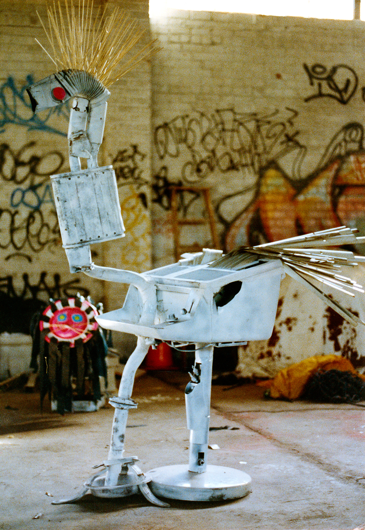 I built sculptures of birds out of the garbage on the Williamsburg waterfront.