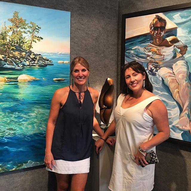 I had my first opening in Lake Tahoe in 2011 with Charlotte and the universe brought us together again 7 years later to be in the beautiful @emanategallery !!! Certain people belong in your life.... #emanategallery #keeptahoeblue #keeptahoeblue💙 #southtahoe #mamacharb
