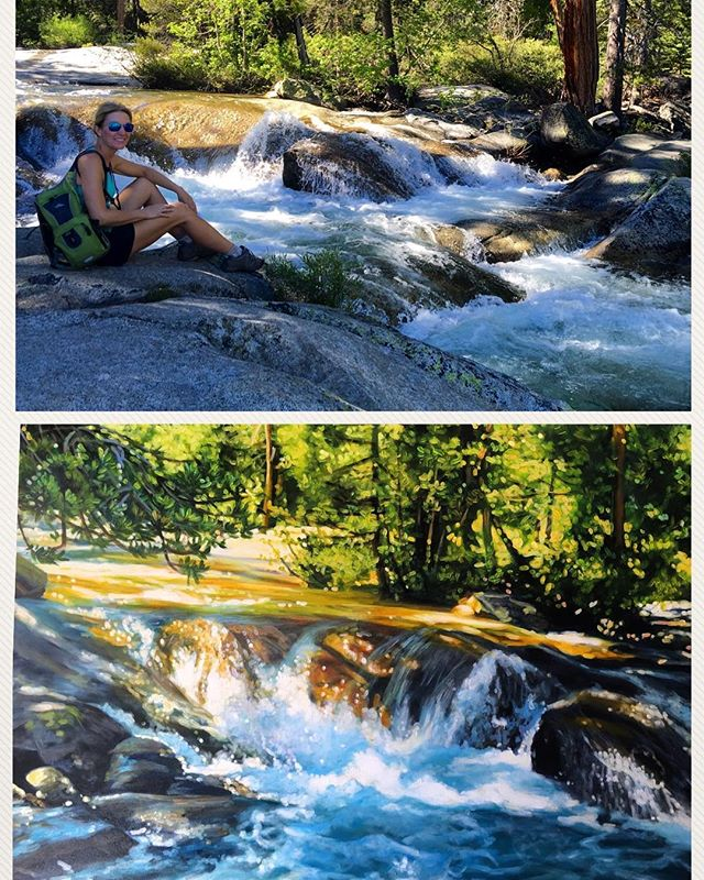 The hike and the painting that it inspired. #squawvalley #keeptahoeblue #keeptahoeblue💙 #denverartist