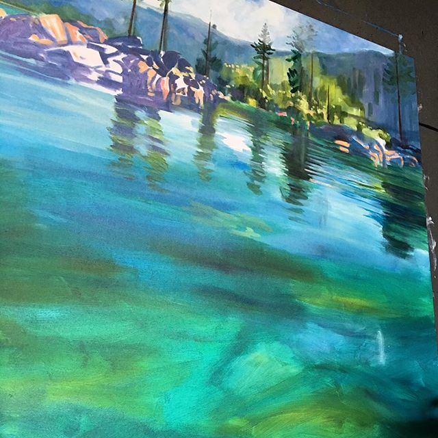 BACK in the Denver Studio!!! #laketahoe #denvercolorado #denverartist #sandharbor #westwardgallery