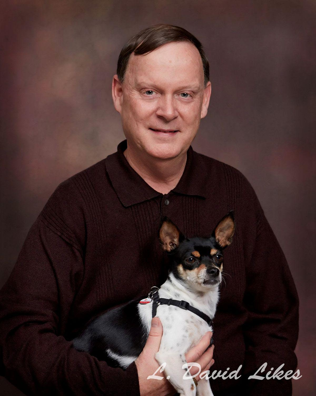 Photo Dad and his dog
