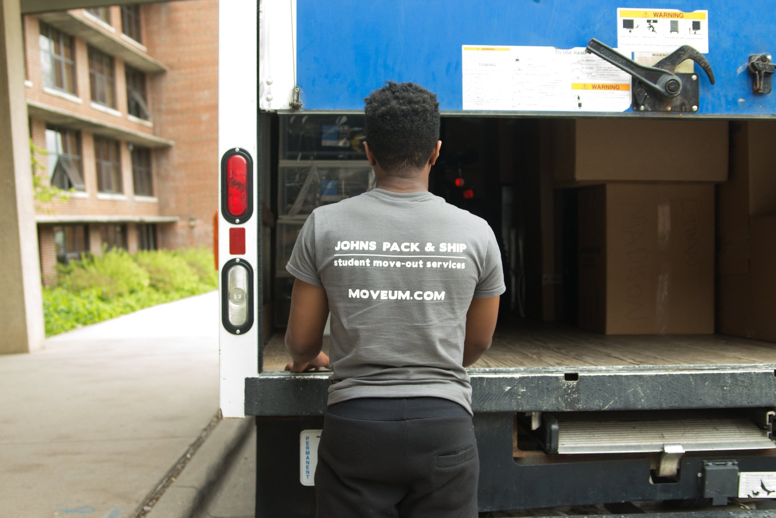 Moves - Two strong guys move students from one campus residence immediately to another.Just not during the peak weeks of fall move-in the 10 days before Labor Day or during spring move-out, the 10 days before graduation