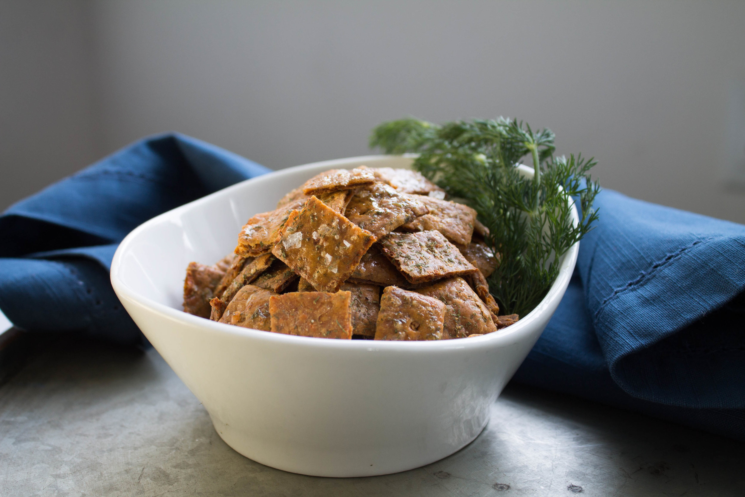 Cheddar dill crackers