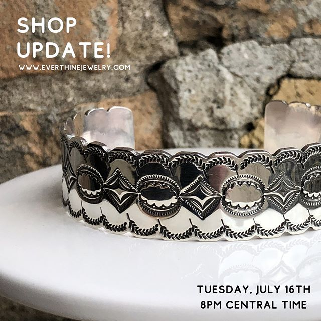 SHOP UPDATE! Set a reminder for Tuesday, July 16th at 8pm. My first ever scheduled shop update of all OOAK pieces will be available for the first time. This will be the first time my IG followers and long distance friends can get their hands on my new work along with everyone else. I'm excited!⠀⠀⠀⠀⠀⠀⠀⠀⠀ .⠀⠀⠀⠀⠀⠀⠀⠀⠀ .⠀⠀⠀⠀⠀⠀⠀⠀⠀ .⠀⠀⠀⠀⠀⠀⠀⠀⠀ .⠀⠀⠀⠀⠀⠀⠀⠀⠀ .⠀⠀⠀⠀⠀⠀⠀⠀⠀ #jewelry #shoplocalmn #womanowned #instajewelry #handmadejewelry #jewelrymaking #femalebusinessowner #smallbusiness #jewelrygifts #ringsofinstagram #silverjewelry #silverjewelrydesign #ringstack #messagejewelry #casketartsbuilding #casketarts #nempls #northeastmpls #mnartists #mpls #mplsartist #mnjewelrystudio #shopupdate #metalstampedbracelet #metalstamping