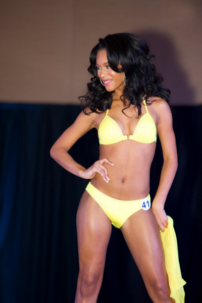 Ardelle working that confidence on stage for the swimsuit competition!
