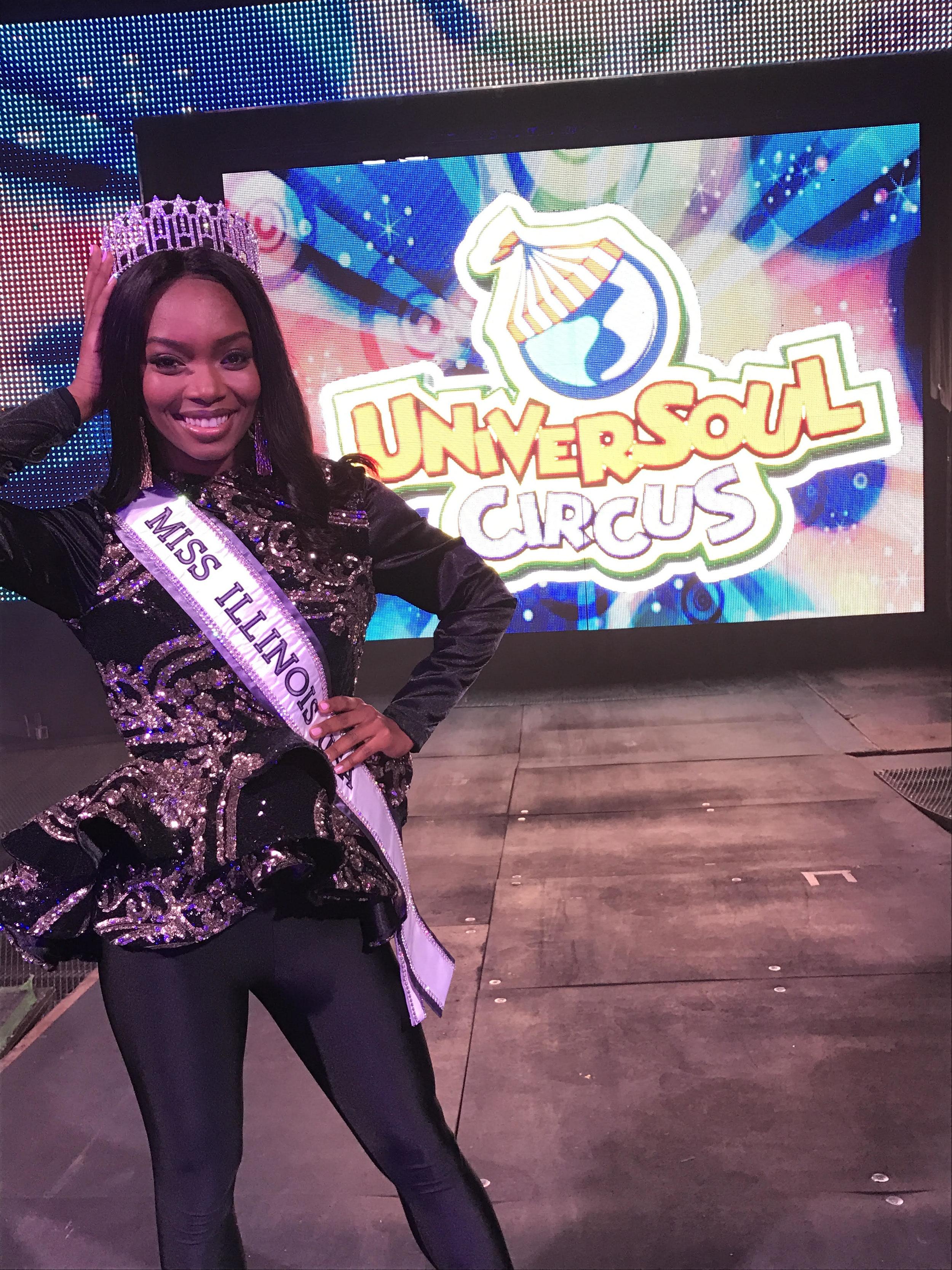Whitney Wandland, Miss Illinois USA shows off a Seams Sew Jazzy's original