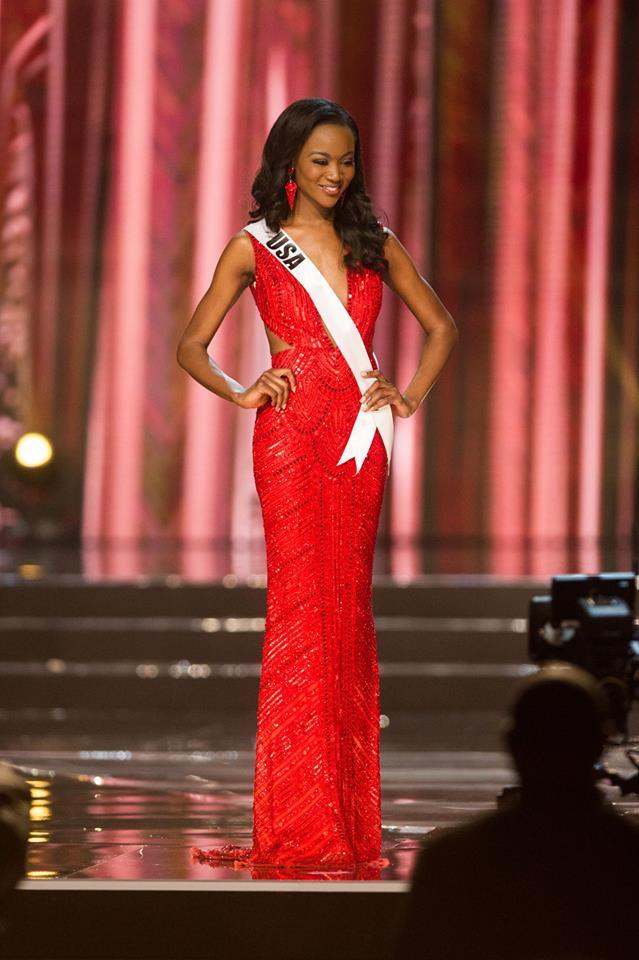 Miss U-S-Slay pops in vivid red