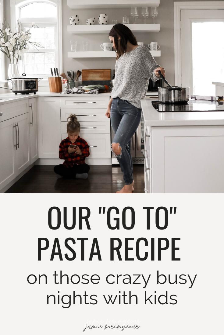 Our Go To Pasta Recipe - Jamie Scrimgeour - Catelli Pasta