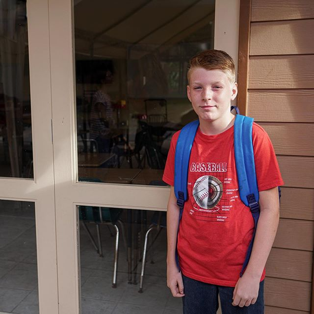"First day of 8th grade and first day of school at The Learning Center.  This is Camden's first year not in homeschool.  I know he is going to do so well.  He is surrounded by friends and teachers all with the same goals to grow in learning and in relationship with Jesus.  Still...my mama heart is a little mushy this morning.  How does he look so grown up all of a sudden?  How does he just walk into a class as the ""new kid"" with such confidence and not even look back at mom?  When did he become a young man?  I'm sure it happened overnight. *Sighs* Here goes... #firstdayofschool #8thgrade #eighthgrade #middleschool #newseason #homeschool #momofboys #myfivesons #boymom #eldest #firstborn #growingup"