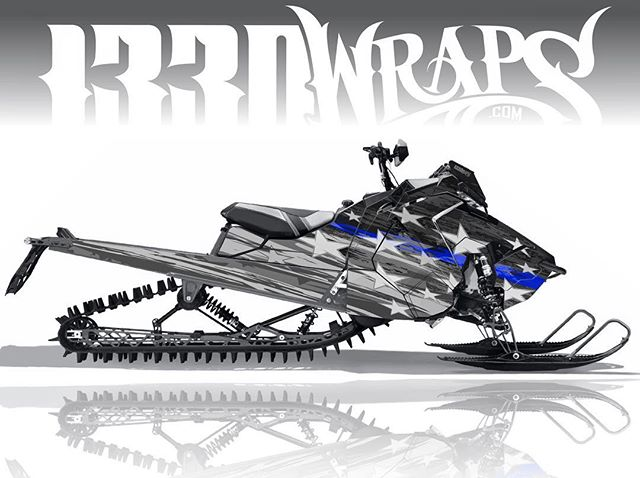 #HonorTheBlue 💙 'Honor' will be on the site soon available for all major sled models! #1330wraps #polaris #prormk #america #bluelivesmatter #thinblueline #starsandstripes #sledwraps #sledwrap #gbwraps #snowmobile #winter #slednecks