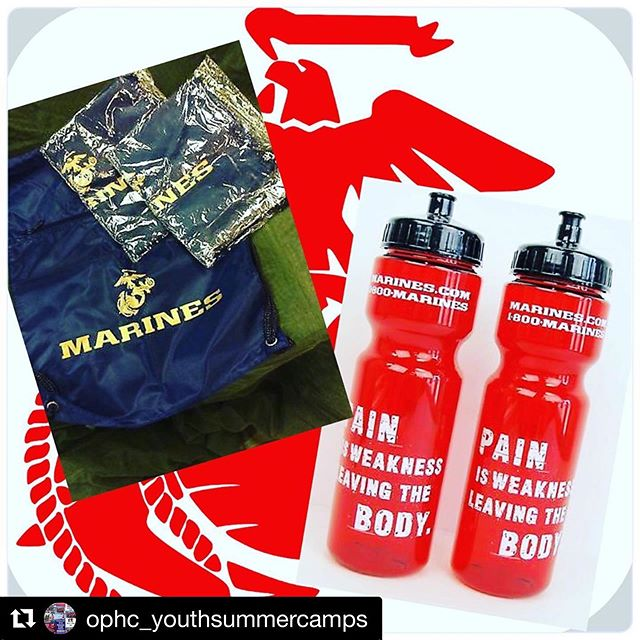 #Repost @ophc_youthsummercamps ・・・ Thank you to the @marines for sponsoring our 2019 Youth Summer Camp program by providing bags and water bottles to all of this year's summer camp participants!  You guys are awesome and truly help embody our core value of #eachoneteachone  #youth #summercamp #summercamp2019 #giveback #futureleaders #veteranshelpingveterans #marines #usmc #semperfi