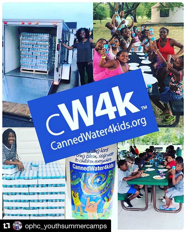 #Repost @ophc_youthsummercamps ・・・ Thank you to @cannedwater4kids our annual sponsors for our youth summer camp program.  Due to their support we've been able to ensure that all of our campers have clean and safe water each summer!  You guys have continuously answered the call year end and year out and we appreciate all that you do for our youth!! ♥️♥️ #youth #cannedwater4kids #summercamp #payitforward #eachoneteachone #summercamp2019 #sponsors #sponsorshoutout