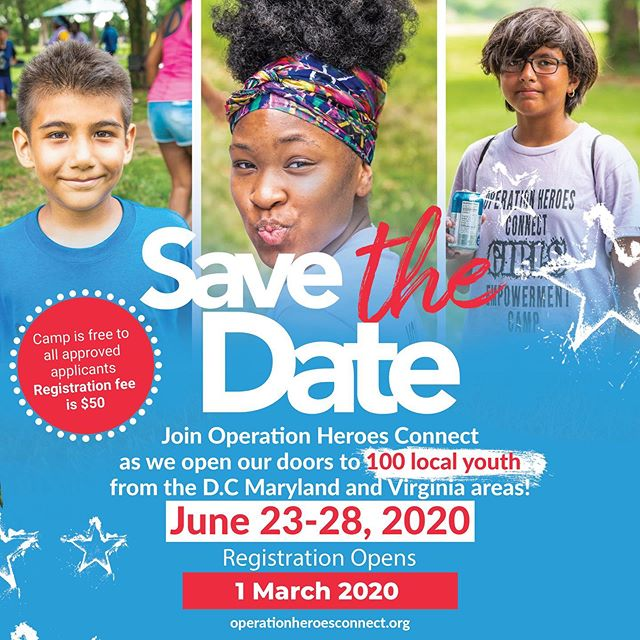 Save The Date!! As promised, this upcoming year we will be welcoming 100 kids to our annual summer camp program! For those interested in becoming camp facilitators for 2020 be sure to access our applications...link in bio  #giveback #eachoneteachone #summercamp #veteranowned