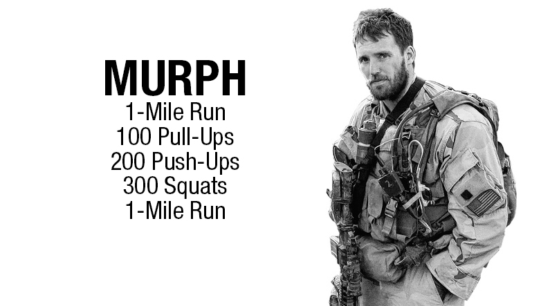 """*Gym Opens @ 9:00...there is no group warm up, so get there early to prep yourself * """"Murph"""" kicks off @ 9:30ish"""