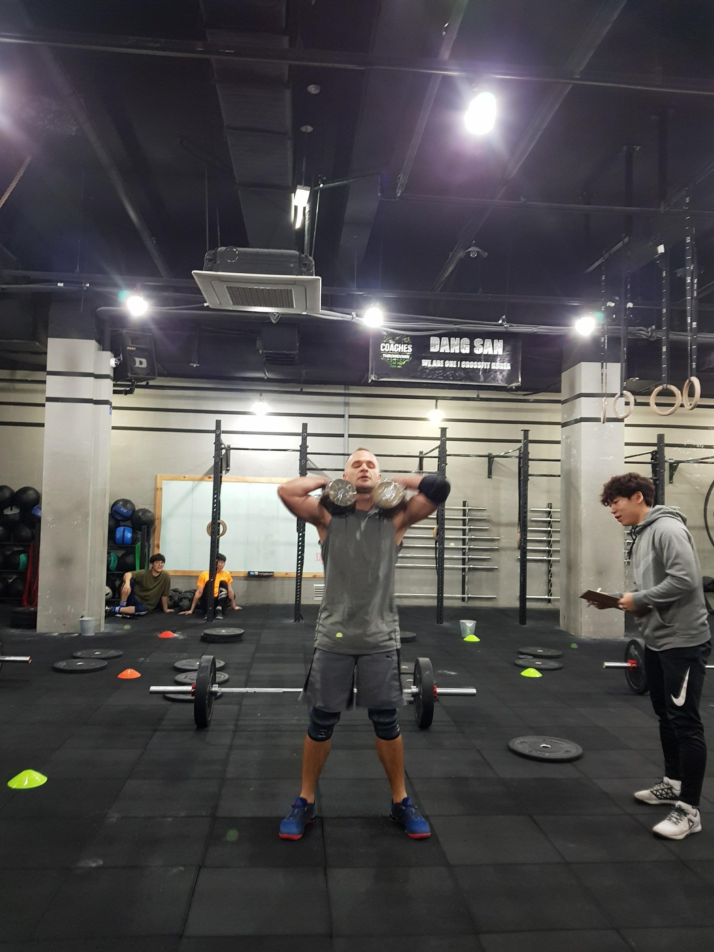 Matt P. hitting 18.2 on the road at CrossFit Dang San in Seoul, South Korea. Pretty cool!