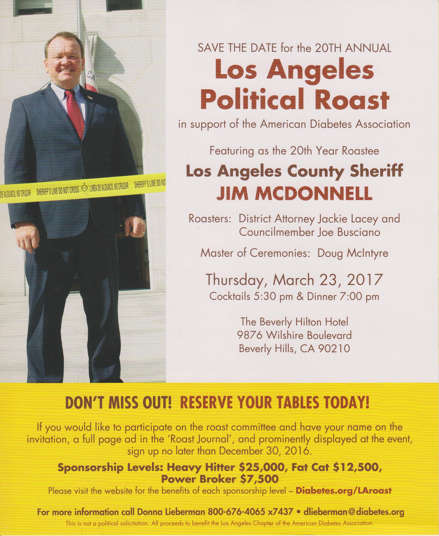 LA Political Roast Invite