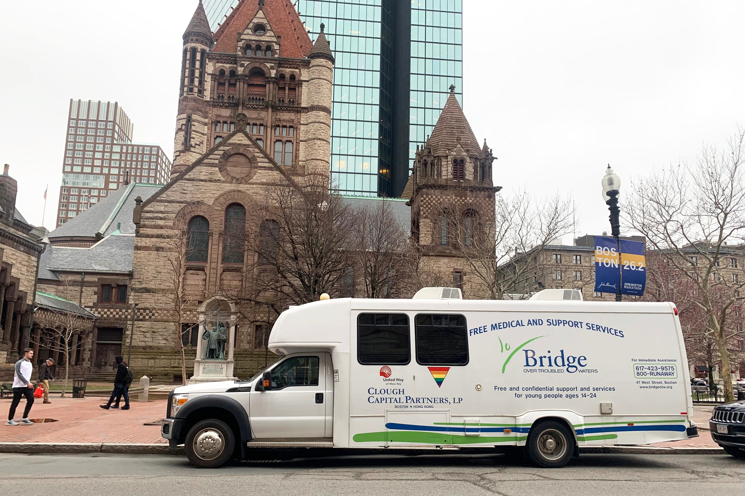 The Mobile Medical Van one night in Copley Square this month.