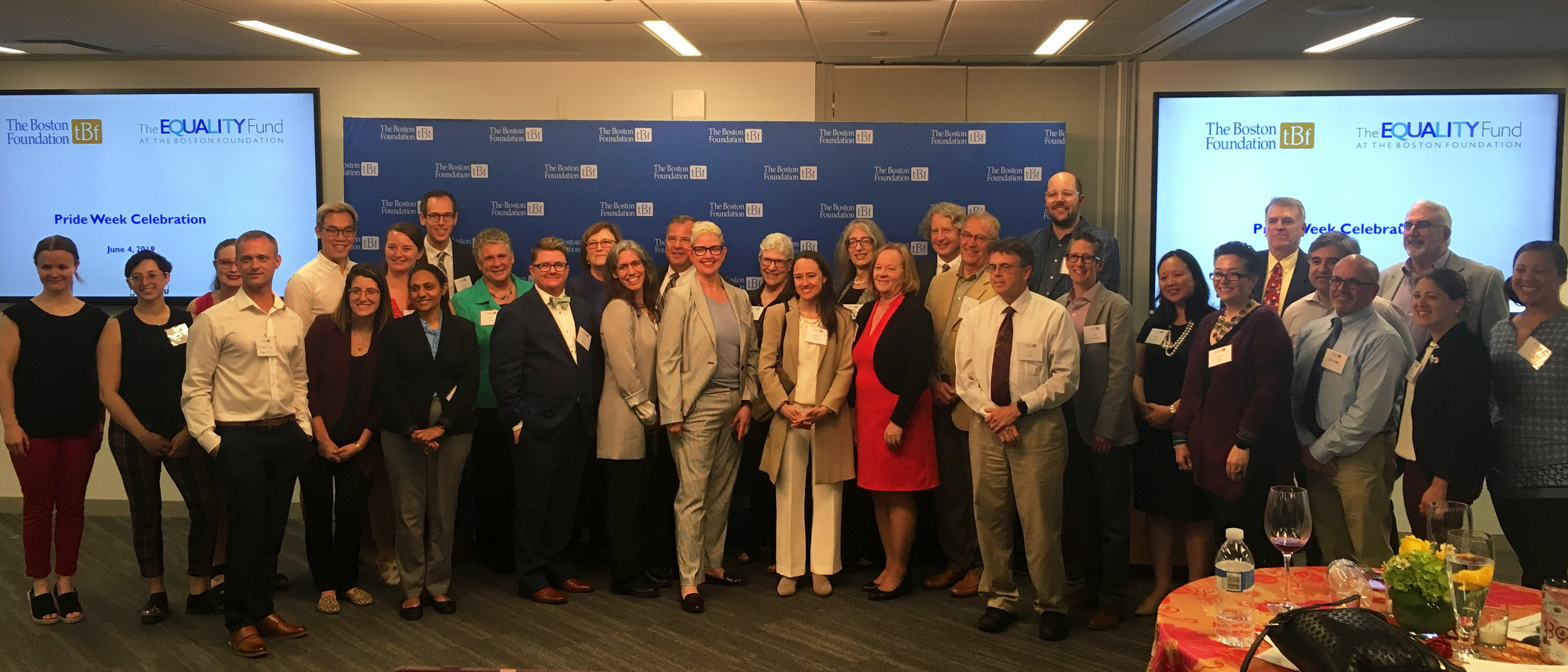 Bridge staff attended the 2019 Equality Fund Reception at The Boston Foundation with fellow grantees to kick off Pride Week 2019.