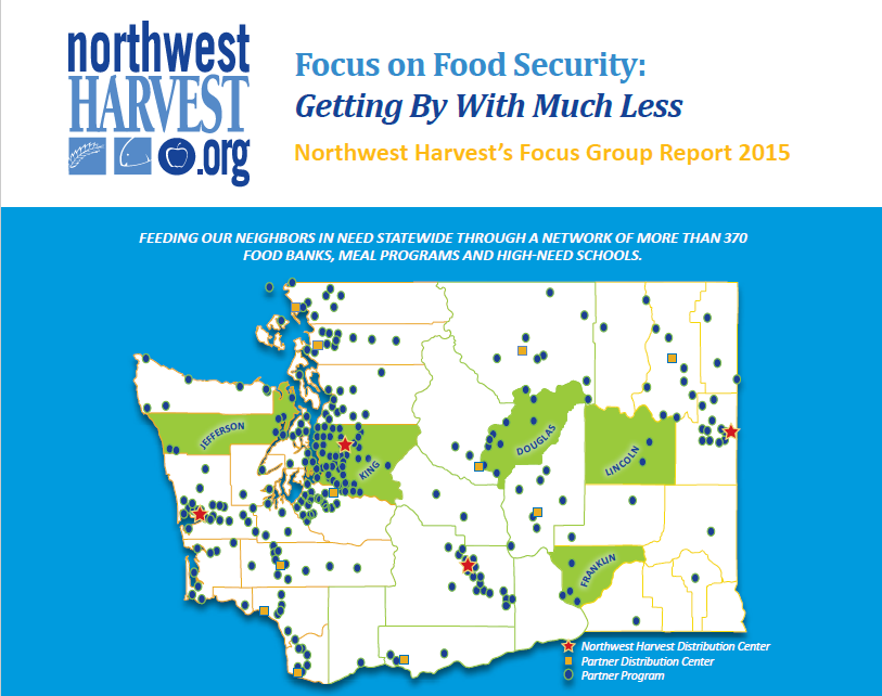 Northwest Harvest serves our local food banks in Grays Harbor County. Read their  Focus on Food Security Report
