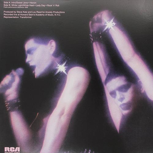 The album's glam-tastic back cover