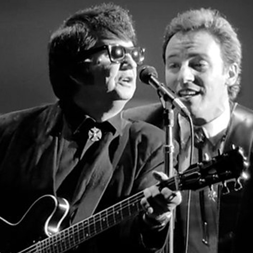 Roy Orbison (left) and unidentified musician