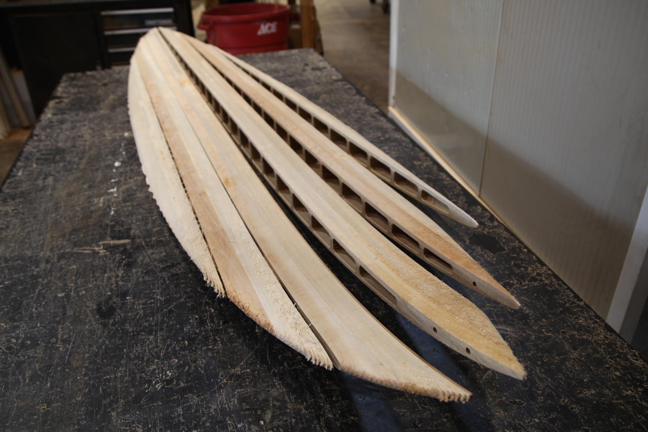 Partially Assembled Surfboard