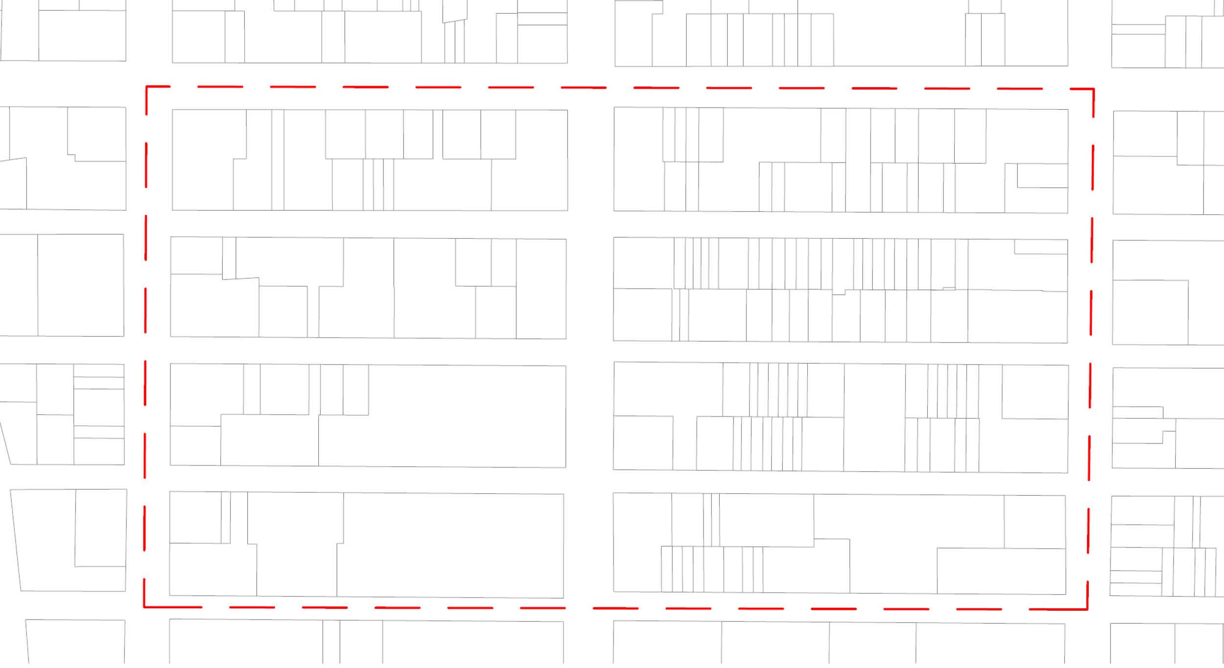 LD: FAR = Gross Floor Area / Street Center Line Area