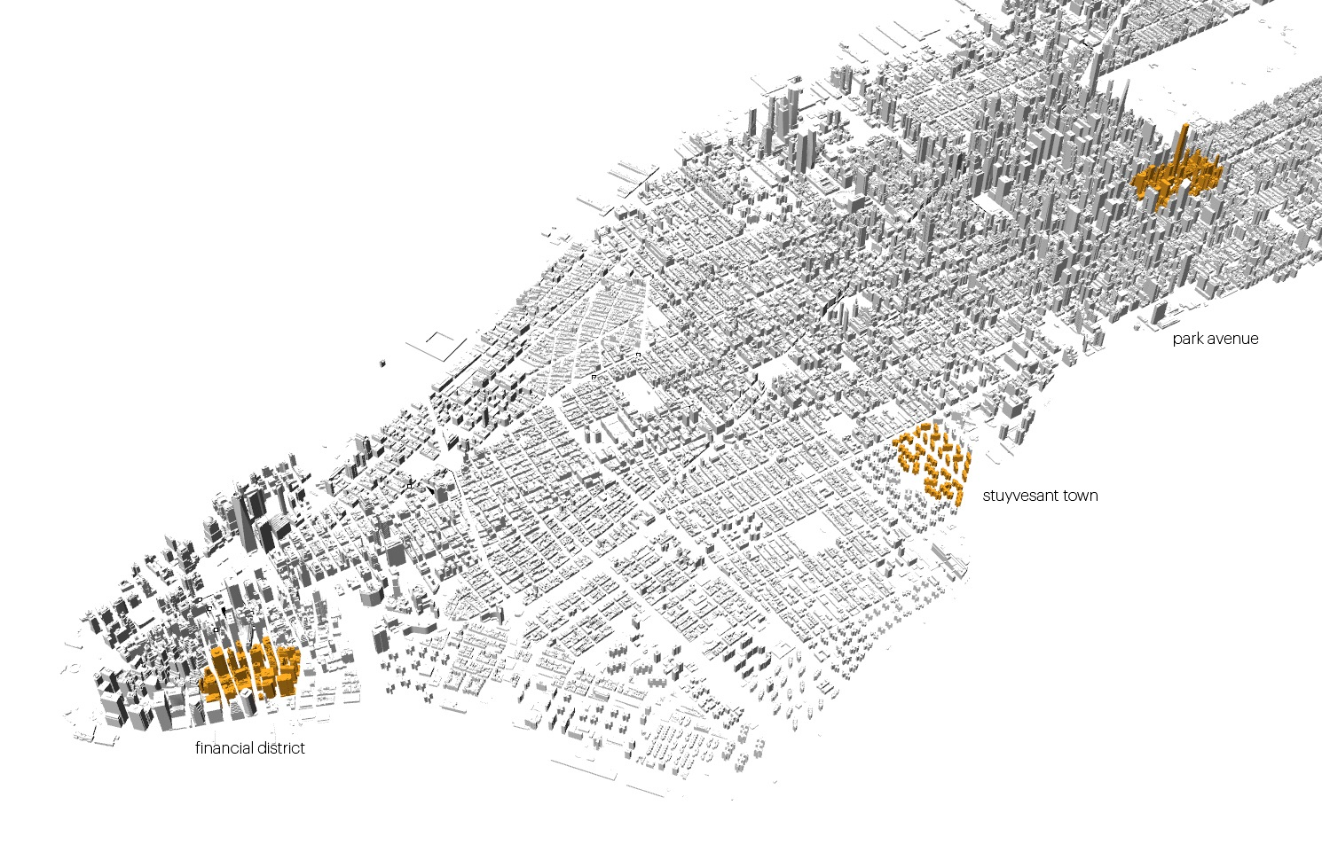 Fig 2 -  Lower Manhattan and Midtown, New York City