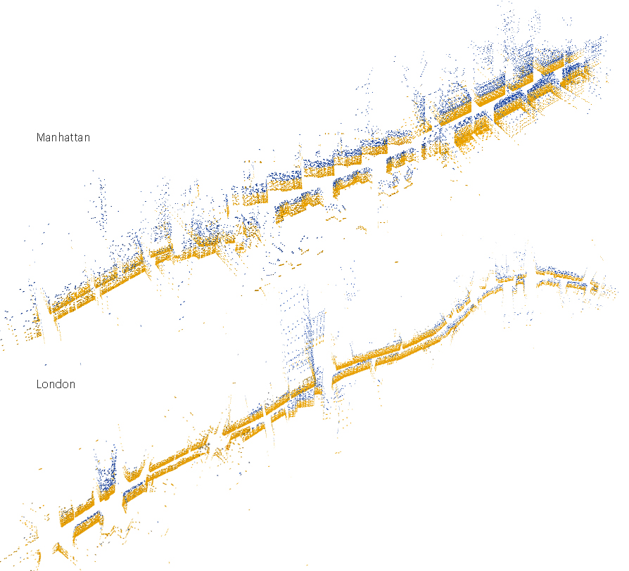 Fig 6 - When applied to enough neighborhoods,the tool begins to create an experiential image of the city