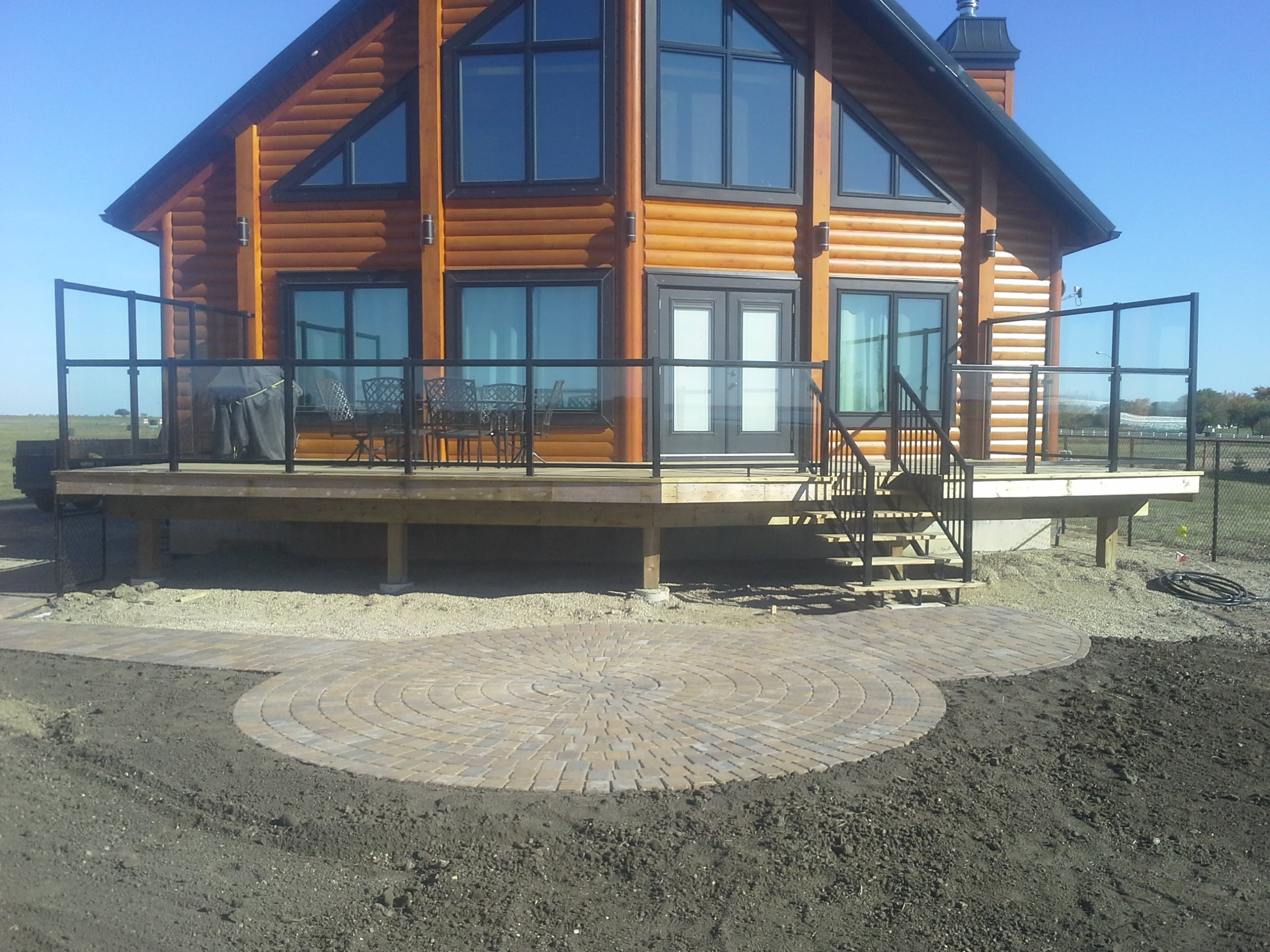 Paving Stone Fire Pit and Walk