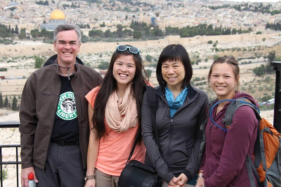 Han, Sammi, Lynnette and Monica in Jerusalem